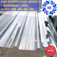 ATAP SPANDEX / SPANDEK CLEAR / BENING / TRANSPARAN 1 MM (3M 4M 5M 6M)