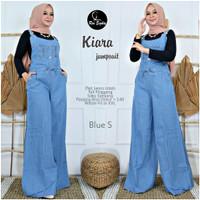 celana kodok jeans wanita muslim jumpsuit jeans real pict terbaru-kiar