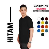 kaos polos cotton combed 30s Premium warna Hitam
