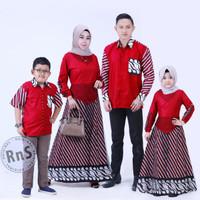 couple batik Gamis set keluarga /Seragam Baju Gamis Pesta modern Murah