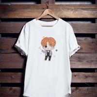 Baju Kaos Atasan Tshirt Katun Cewek Chibi JHope BT21 BTS Wanita