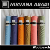 Kain Bahan Gamis Wolfis Wolvis Wolpis Woolpeach 1 Roll 50 Yard Premium