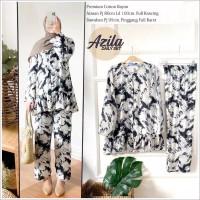 Tie Dye Pajamas Set Piyama Wanita Muslimah Daily Set Azila Size L