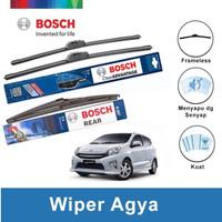 """Bosch Wiper Depan & Belakang Toyota Agya Frameless 20"""" & 14"""" + H307"""