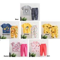 Piyama Anak Lengan Pendek Celana Panjang Anak Motif, Baju Tidur Bayi