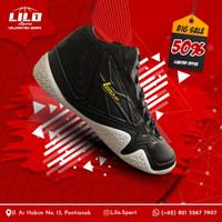 Sepatu Bola Basket League Levitate Black Majestic