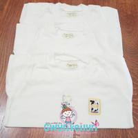 Gwynveilyn_shop - Hachi Oblong Bayi , Baju Oblong Anak (Putih)