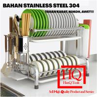 Rak Cuci Piring STAINLESS STEEL SUS 304 SERBAGUNA Tempat tatakan dapur