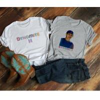 Kaos Katun Wanita Dynamite BTS | baju polos | BT21 | tumblr tee |