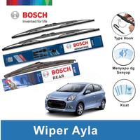 "Bosch Wiper Depan & Belakang Daihatsu Ayla Advantage 21"" & 14"" + H307"