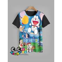 kaos anak DORAEMON baju anak DORAEMON ballon - 3-4 tahun