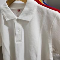 Kaos polo shirt catton combed /kaos kerah pria seragam polosm l xl xxl
