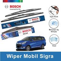 """Bosch Wiper Depan & Belakang Daihatsu Sigra Advantage 22"""" & 17"""" + H307"""