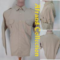 kemeja seragam kerja pangkat panjang cream baju pdh pdl lapangan