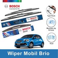 Bosch Wiper Depan & Belakang Honda Brio Satya Advantage 22 & 16 + H306