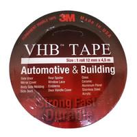 DOUBLE TAPE 3M VHB AUTOMOTIVE 4900 SIZE 12mm x 4.5m LEM PEREKAT MOBIL