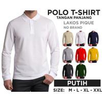 Kaos polo shirt pria / kaos lengan panjang kerah pria / t shirt