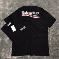 TSHIRT KAOS BALENCIAGA WAVE BLACK AUTHENTIC ORIGINAL