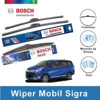 """Bosch Wiper Depan & Belakang Daihatsu Sigra Frameless 22"""" & 17"""" + H307"""