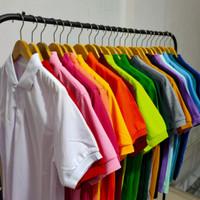 Kaos polo shirt / kaos pria seragam polos / kaos lengan pendek - Hitam, M