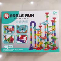 Marble Marbel Run Pipeline Toy Set 113 Pcs - Mainan Balap Kelereng