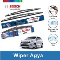 """Bosch Wiper Depan & Belakang Toyota Agya Advantage 20"""" & 14"""" + H307"""