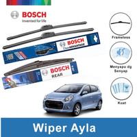 """Bosch Wiper Depan & Belakang Daihatsu Ayla Frameless 21"""" & 14"""" + H307"""