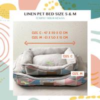 Linen Pet Bed S / M - Tempat Tidur Bantal Kasur Hewan Anjing Kucing