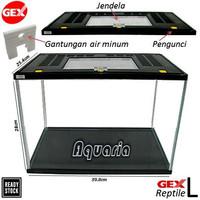 Gex Reptil L Tinggi Aquarium/Terrarium + Tutup