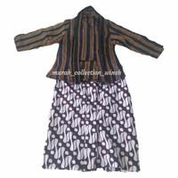 baju lurik cewek size anak usia 4 bulan - 3tahun - Hitam, 0