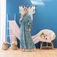 Baju Gamis Wanita Original | Dissy Dress Katun Motif | Terminal Grosir