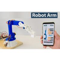 Robot Arm with Smartphone/arduino DIY Control / full rangka/print 3d