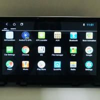 head unit android avix oem honda crv turbo plug n play + tv cable menu
