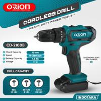 Mesin Bor Baterai Tangan / Cordless Drill Battery Orion CD-2100B