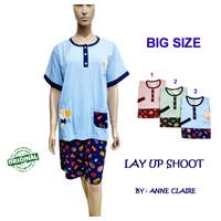 LAY UP SHOOT Setelan Big Size Piyama/baju tidur Dewasa Anne Claire
