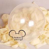 Balon Latex Jumbo 18 inch Transparan / Balon Latex Jumbo Clear