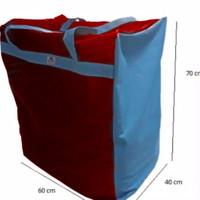 Tas karung kain/ tas super jumbo /tas sangat besar - merah biru