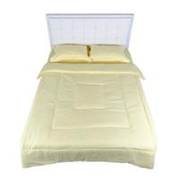 Bed Cover Nyenyak Premium Linens - Single 160x220 - Parmesan Yellow