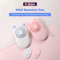 Rokeet Kipas Angin Portable Mini Fan Small & Slim Korean Design Murah