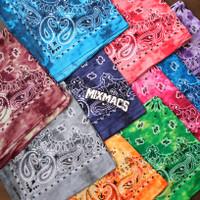 Bandana Motif Paisley Bleach Tie dye 100% Katun