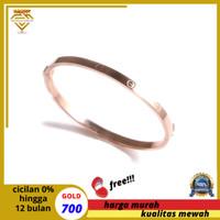 gelang tangan emas kuning asli 17K-700-CARTIER ROSE GOLD