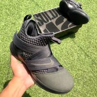 Sepatu Basket Nike Lebron Soldier 12 Black Grey