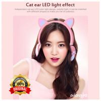 Headphone Bando Kucing LED Wireless Bluetooth untuk anak - BK1 TERBARU