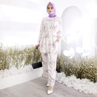 piyama wanita muslimah baju muslim baju tidur tiedie jumbo Nasiha set