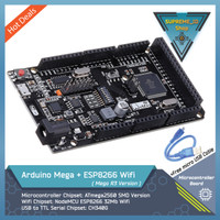 Arduino Mega 2560 R3 + ESP8266 Wifi + Micro USB Cable   IoT