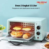Oven Listrik Y06 Panggang Daging/Kue Bolu /bbq Double Tube 12L