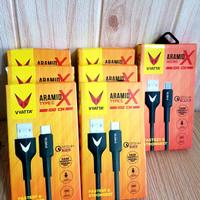 Kabel Data 27Watt Vyatta Aramid X 100cm Type C Micro USB New Ori Grnsi