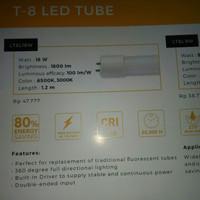 lampu TL T8 Led tanpa ballast 18wat 120cm