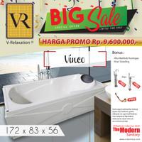 BIG SALE VR BATHTUB STANDING VINCO WHIRLPOOL JACUZZI