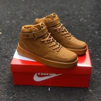 Nike air force one mid brown ( sepatu nike / sepatu tinggi )